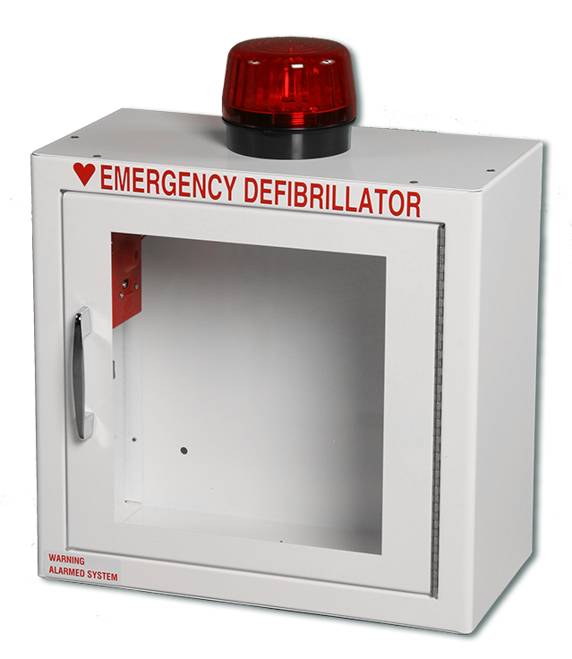Compact AED Wall Cabinet, Surface Mount + Alarm + Strobe – Trio ...