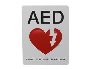 AED Wall Sign Flat