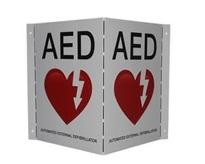 AED Wall Sign V-Shape